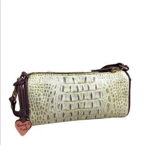 Dooney & Bourke Croc Embossed Leather Barrel Bag